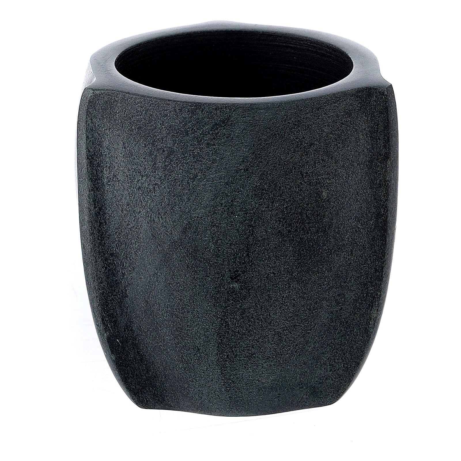 Pebetero esteatita oscura 6 cm 3