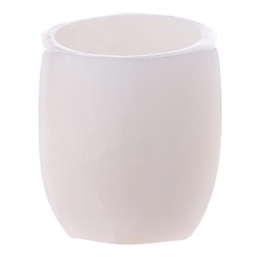Ciotola per incenso steatite rastremata 6 cm bianca 1