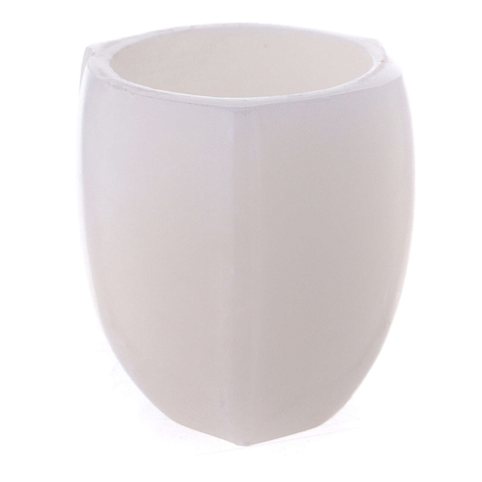 White soapstone tapered incense bowl 2 1/2 in 3