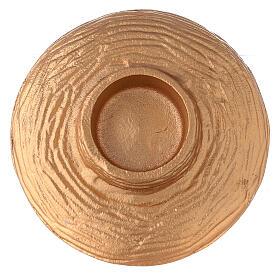 Bol pour encens 13 cm aluminium doré anthracite s4