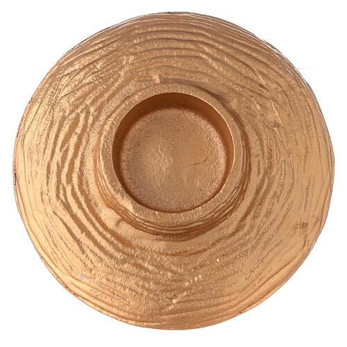 Bol pour encens 13 cm aluminium doré anthracite 4