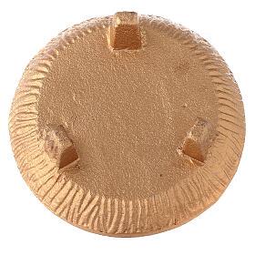 Copa para incienso 3 pies aluminio dorado bruñido s4