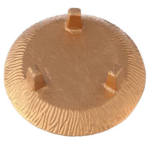 Ciotola portaincenso 18 cm alluminio dorato brunito 4