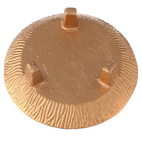 Incense bowl 7 in burnished gold painted aluminium s4