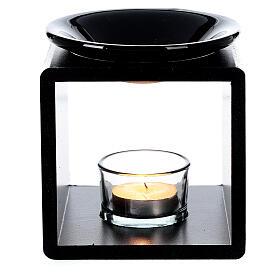 Brûle-essence cube noir 12,5 cm s2