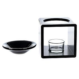 Brûle-essence cube noir 12,5 cm s4