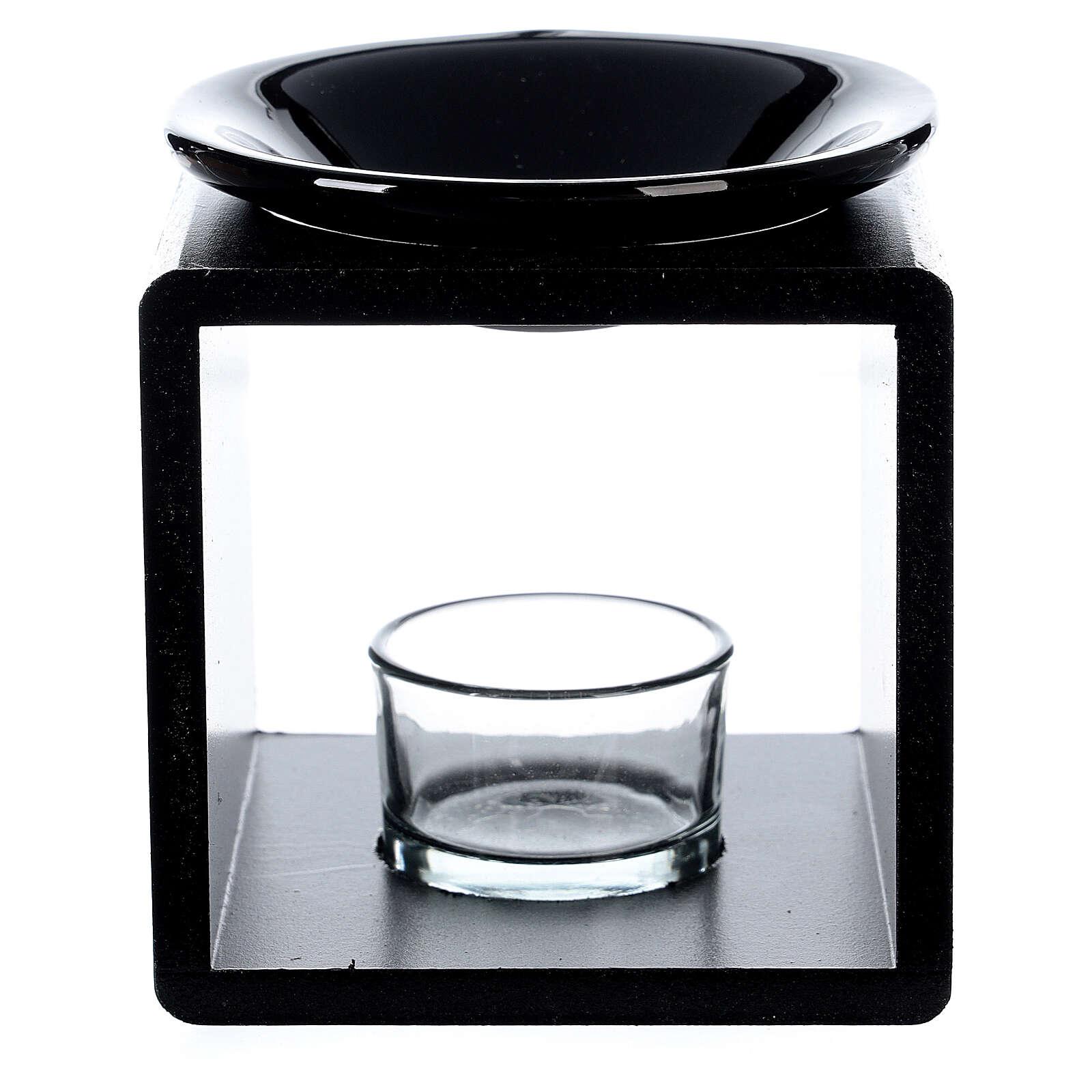 Brucia essenze cubo nero 12,5 cm 3