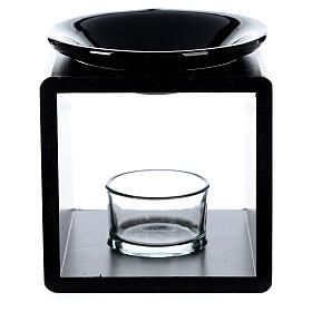 Brucia essenze cubo nero 12,5 cm s1
