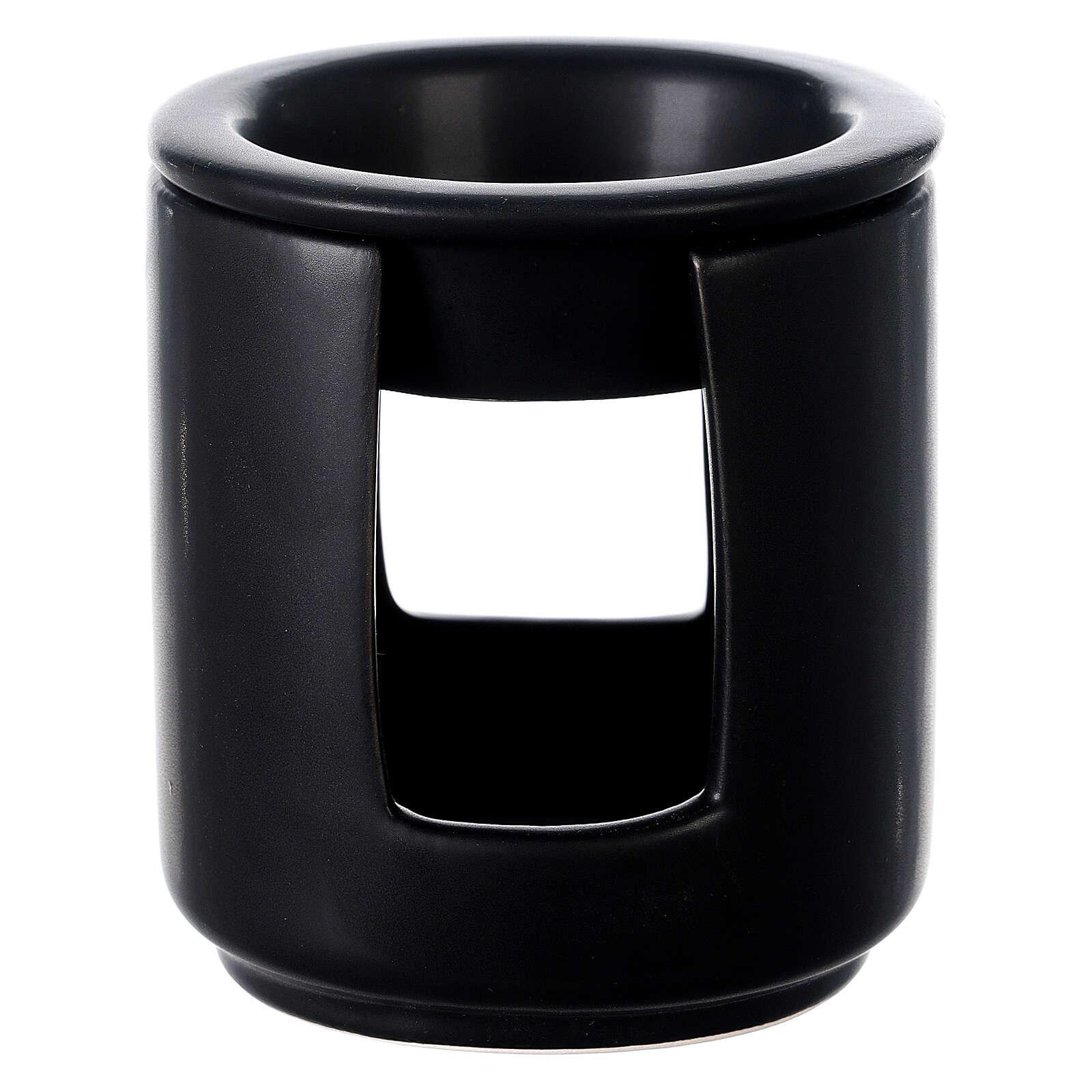 Diffusore essenze ceramica nero 10x9 cm 3