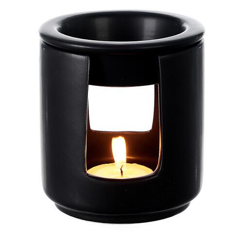 Diffusore essenze ceramica nero 10x9 cm 2