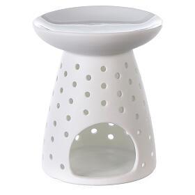 Difusor blanco de porcelana flores 10x12 cm s1