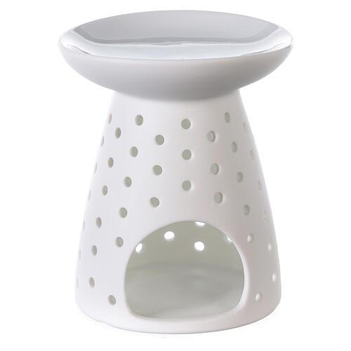 Difusor blanco de porcelana flores 10x12 cm 1