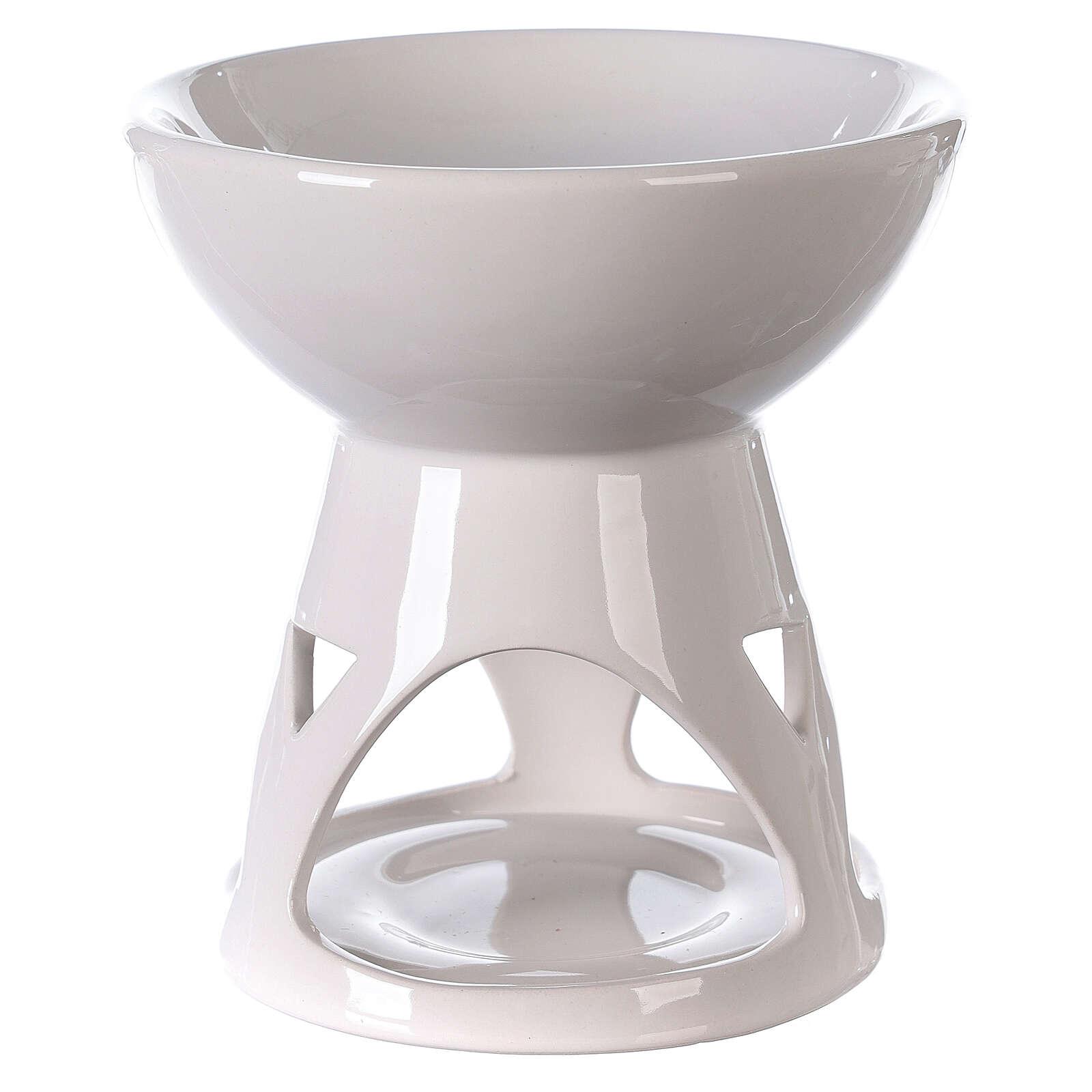 Diffusore ceramica smalto bianco 12x12 cm 3