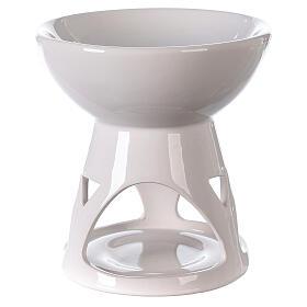 Diffusore ceramica smalto bianco 12x12 cm s1