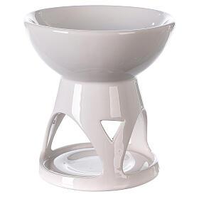Diffusore ceramica smalto bianco 12x12 cm s3