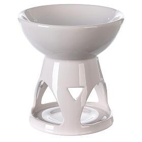 Diffusore ceramica smalto bianco 12x12 cm s4