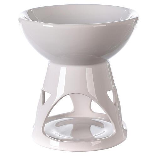 Diffusore ceramica smalto bianco 12x12 cm 1