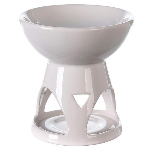 Diffusore ceramica smalto bianco 12x12 cm 4