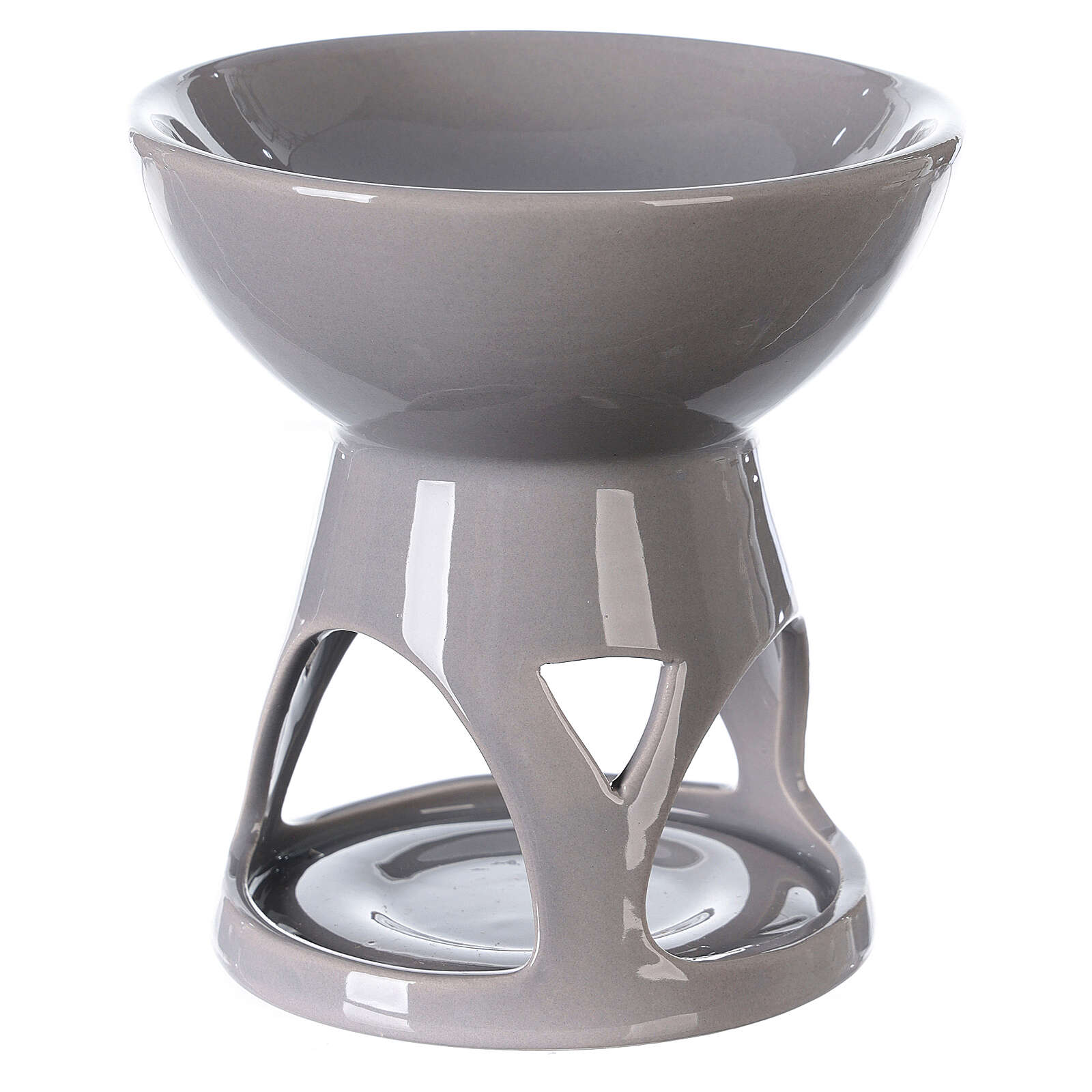 Difusor esencias cerámica esmalte gris 12x12 cm 3