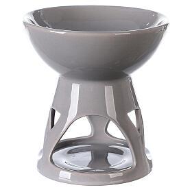 Difusor esencias cerámica esmalte gris 12x12 cm s1