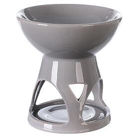 Difusor esencias cerámica esmalte gris 12x12 cm s3