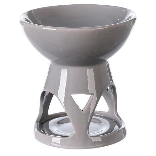 Difusor esencias cerámica esmalte gris 12x12 cm 4