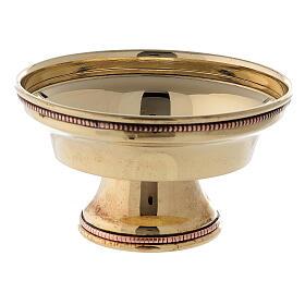Coppa bruciaincenso ottone dorato bordo perlato 10 cm s2