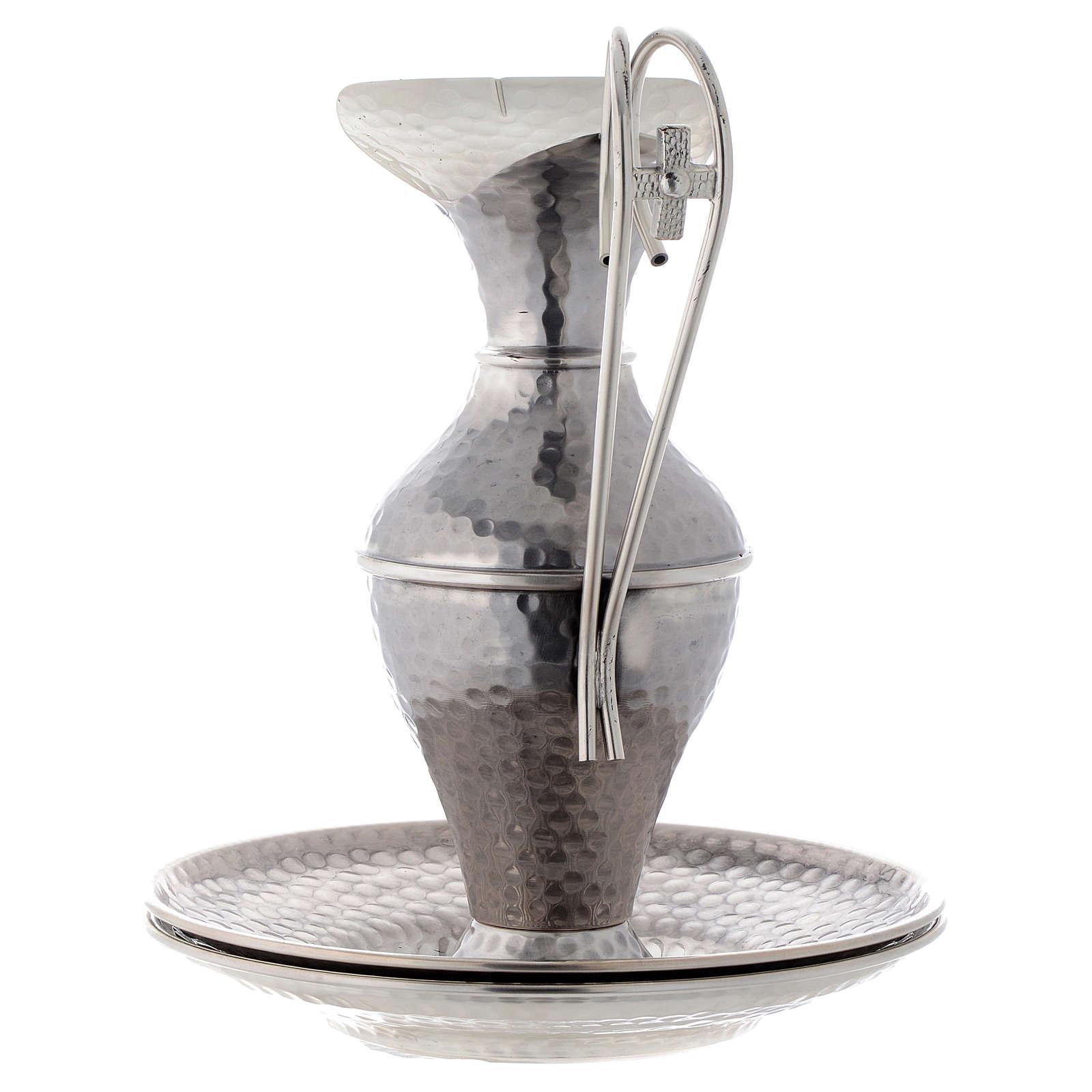 Conjunto jarra martilleada simple 3
