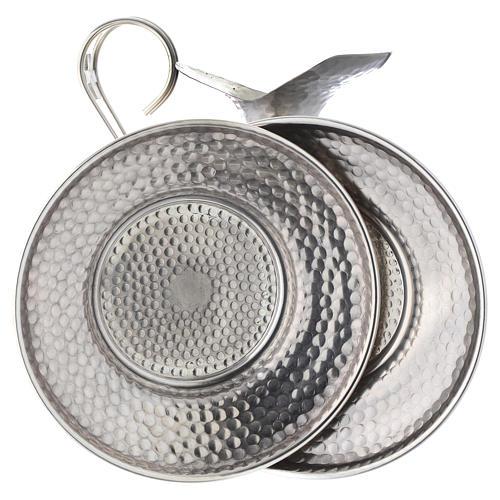 Conjunto jarra martilleada simple 4