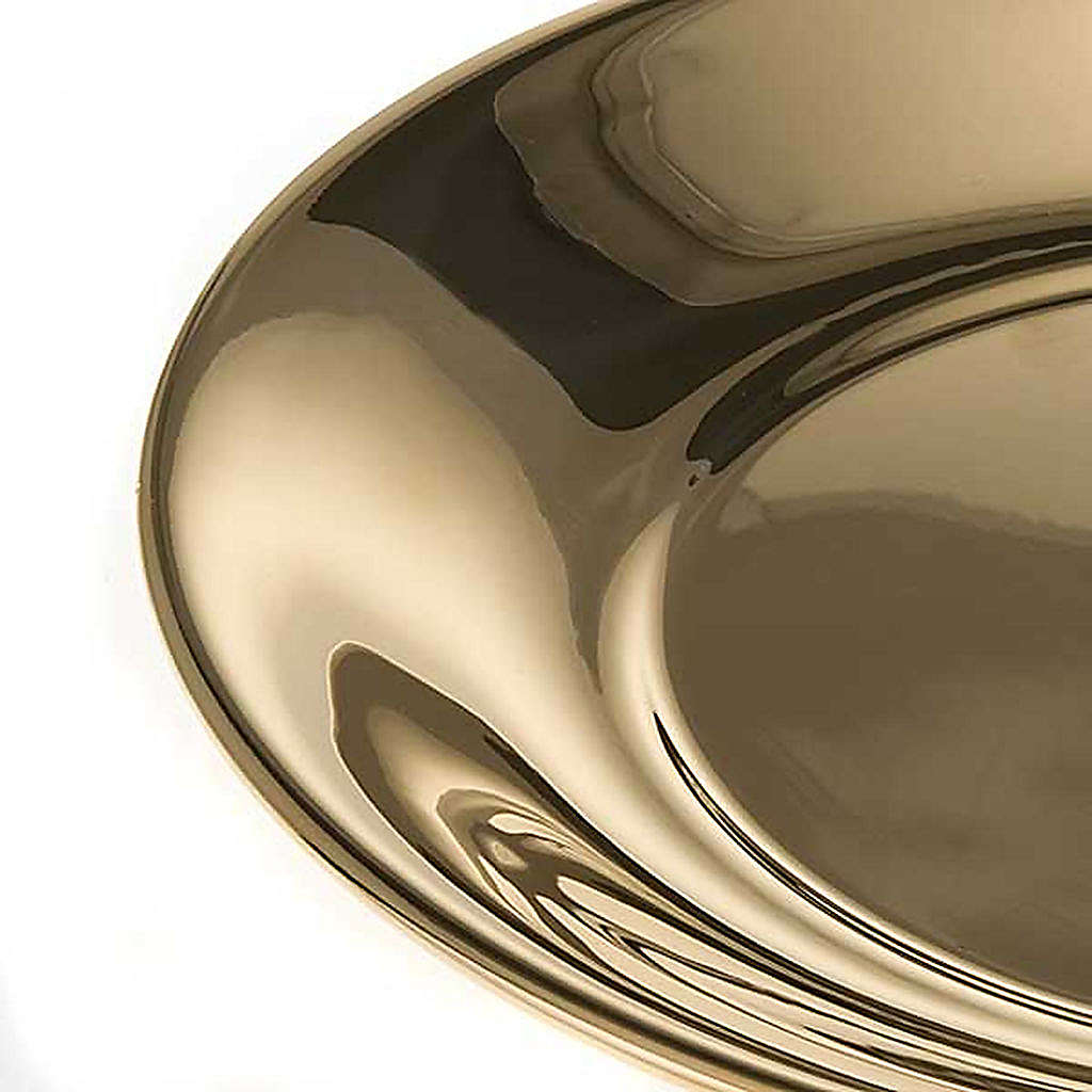 Bowl in gold-plated or palladium plated  brass 3