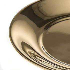 Bowl in gold-plated or palladium plated  brass s5