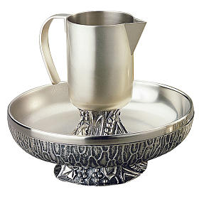 Ewer with basin, Molina in silver brass s1
