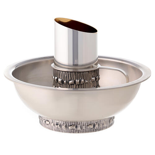 Aiguière lavage mains Molina avec bassin laiton argenté 1
