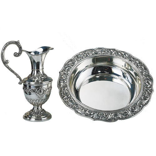 Molina set,ewer with basin in silver brass 1