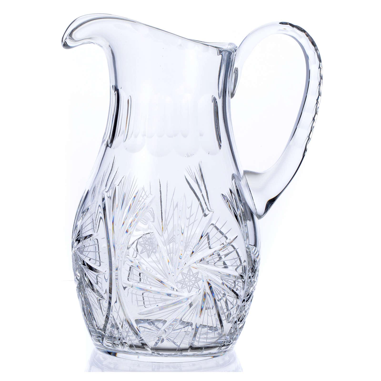 Wasserkanne zur Händewaschung aus Kristall 3
