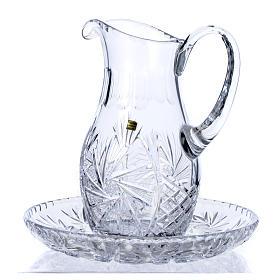 Wasserkanne zur Händewaschung aus Kristall s1