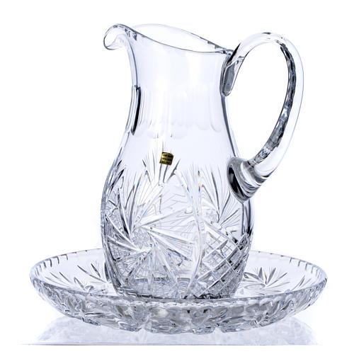 Wasserkanne zur Händewaschung aus Kristall 1