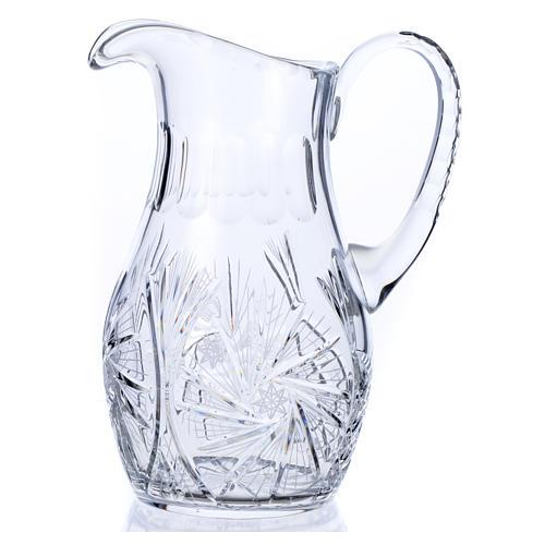 Wasserkanne zur Händewaschung aus Kristall 2