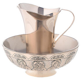 Molina tray and ewer set in silver brass s1