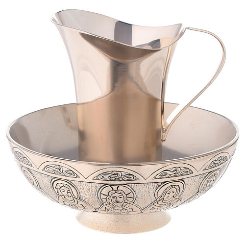 Molina tray and ewer set in silver brass 1