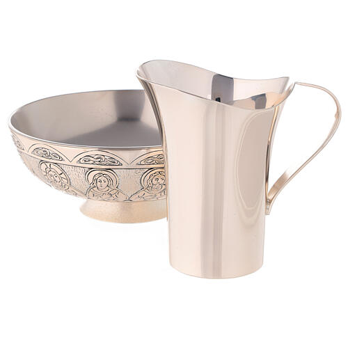 Molina tray and ewer set in silver brass 2