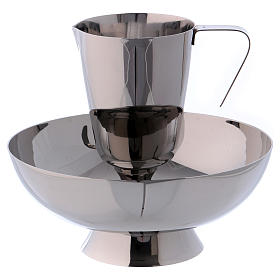 Molina tray and ewer set in stainless steel s1