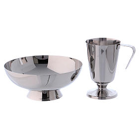 Molina tray and ewer set in stainless steel s2
