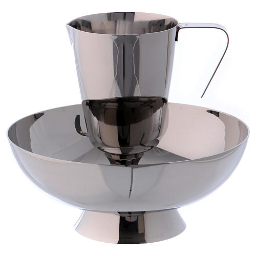 Molina tray and ewer set in stainless steel 1