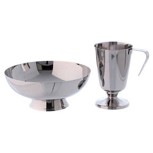 Molina tray and ewer set in stainless steel 2