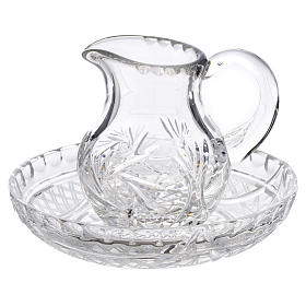 Pitcher with tray in crystal 200cc s1