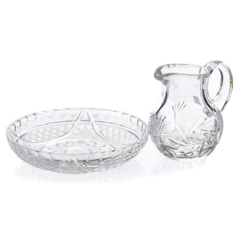 Pitcher with tray in crystal 200cc 2
