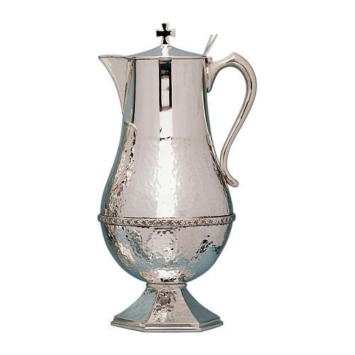 Molina manuterge jug slightly hammered in silver brass 1
