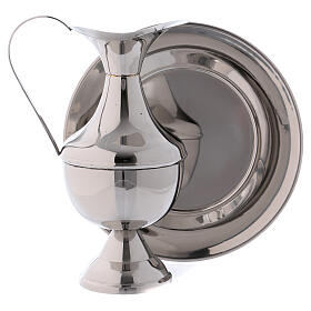 Brass ewer with basin for hand washing ritual s3
