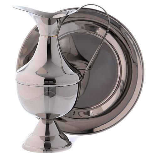 Aiguière pour lavage mains en laiton avec bassine 2